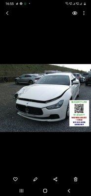 瑪莎拉蒂Maserati 零件車各車系均有,歡迎洽詢