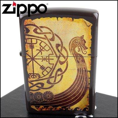 ☆哈洛德小舖☆【ZIPPO】美系~Viking Warship-維京戰艦圖案打火機 NO.49182