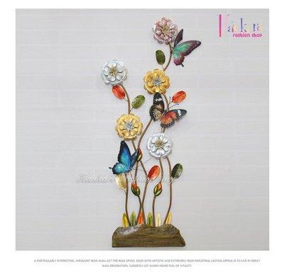 ☆[Hankaro]☆ 浪漫歐式鐵藝半立體效果花朵牆壁掛飾(雍容典雅)