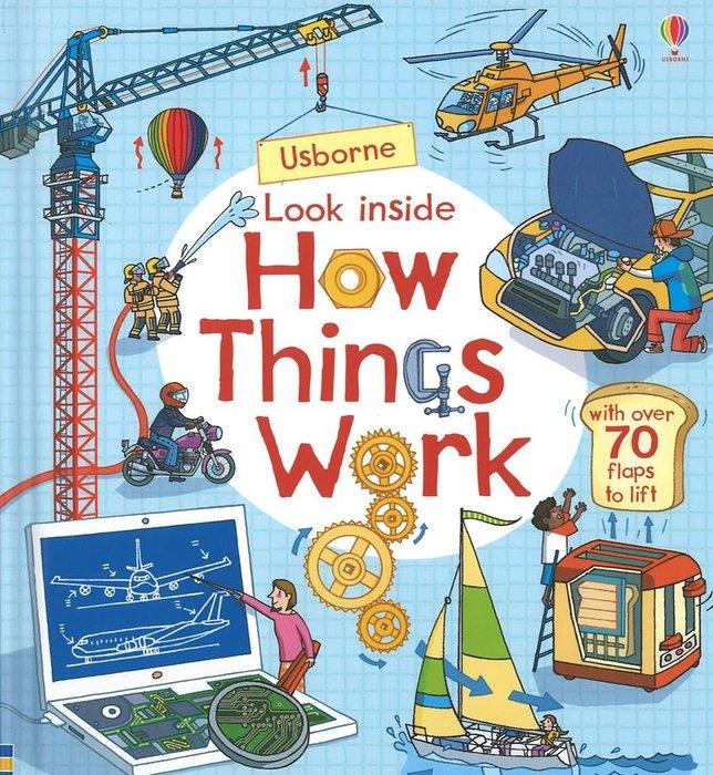 *小貝比的家*LOOK INSIDE HOW THINGS WORK/硬頁書/3~6歲