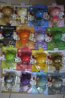 全新未拆 絕版釋出 2006年麥當勞推出 Hello Kitty樂高款積木公仔 全套16隻 三麗鷗 凱蒂貓