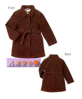【凡妮莎小舖】美國Gymboree咖啡絨布外套(4,6T)~原價600,出清399