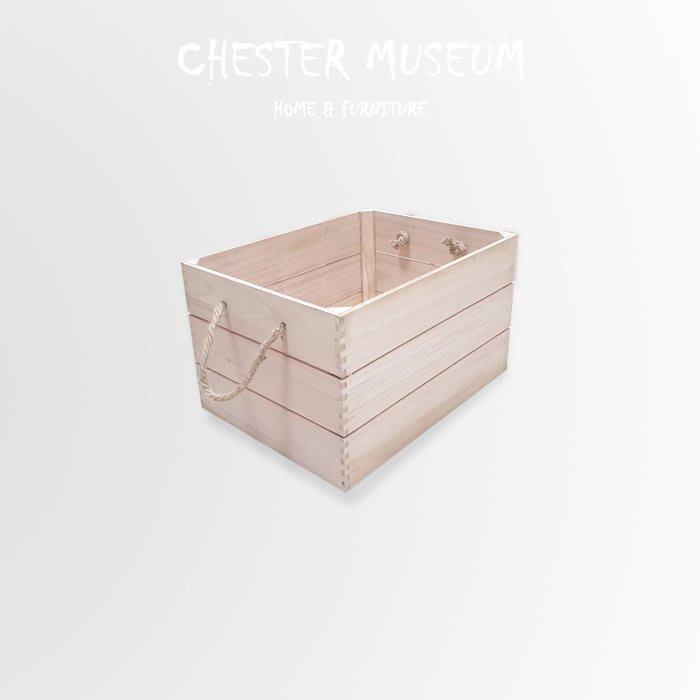 【現貨】高級桐木麻繩木箱 桐木 麻繩 木箱 收納箱 收納盒 箱子 儲物箱 儲物盒 木盒 整理盒 整理箱 INS風