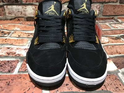 "Nike Air Jordan 4 ""Royalty"" 麂皮 黑金 籃球鞋 男女鞋 308497-032"