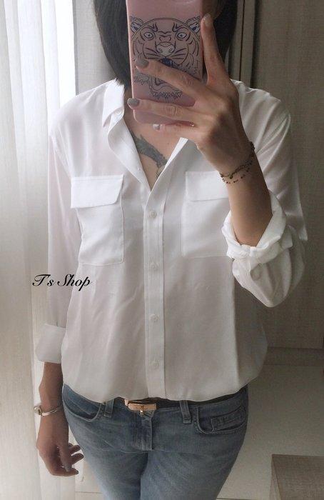 《美國T`s Shop》美! 楊慕穿 經典寬鬆版 Equipment SIGNATURE 雙口袋 絲質襯衫
