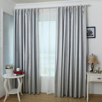 ☜男神閣☞全遮光窗簾布料加厚成品定制遮陽防曬隔熱落地飄臥室客廳簡約現代