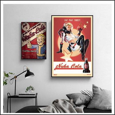 異塵餘生 Fallout 核子可樂 Nuka 海報 電玩海報 掛畫 嵌框畫 @Movie PoP 賣場多款海報#