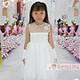 兒童禮服 女童白色電繡精緻花朵 花童裙 鋼琴...