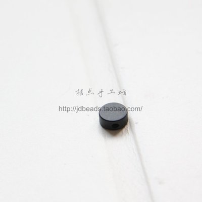 橙子的店 DIY飾品黃銅配件6*2.5mm圓形隔珠 金豆 圓珠 配珠 珠子(1751C)