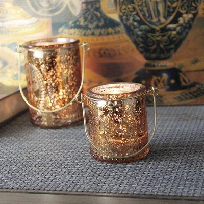熱銷#歐式金色手復古玻璃燭臺浪漫家居INS網紅鐵藝裝飾燭杯擺設#燭臺#裝飾