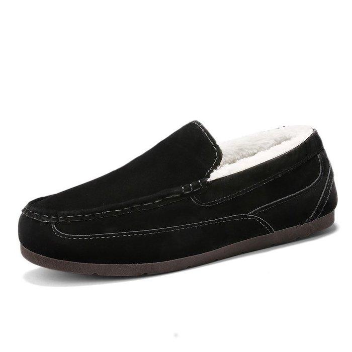 美洋洋@男鞋冬季時尚爆款保暖加絨加厚棉鞋學生雪地棉靴休閒潮鞋百搭一腳蹬豆豆男鞋子