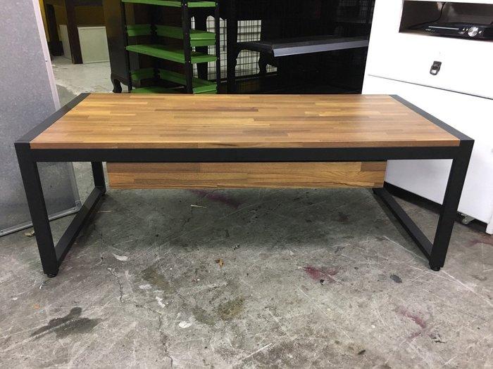 非凡二手家具 全新品4尺工業風接拚木紋大茶几(含抽屜)*矮桌*大茶几*工作桌*置物桌*客廳桌*聊天桌*造型桌*沙發桌