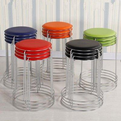 餐椅 (4個裝)熱銷加固塑料凳子家用成人餐凳圓凳時尚創意折疊凳椅子小板凳餐椅