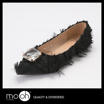 尖頭娃娃鞋 歐美寶石流蘇平底鞋 mo.oh (歐美鞋款)