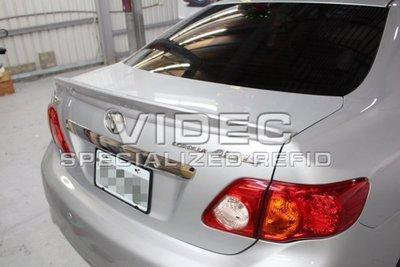 大台南汽車精品HID TOYOTA NEW ALTIS 08-12 10.5代 3D 立體 鴨尾 尾翼 報價含烤漆 安裝