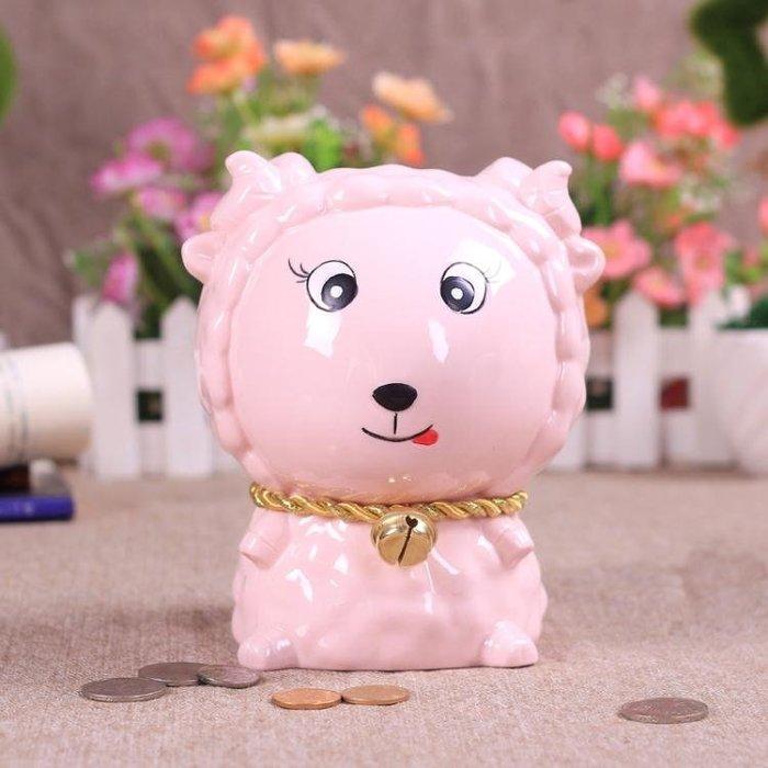 促存錢筒陶瓷十二生肖工藝品紙幣存錢罐卡通創意個性兒童生日禮物小豬擺件