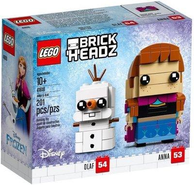 全新樂高大頭 迪士尼公主 安娜及雪寶 LEGO Brickheadz 41618 Anna & Olaf Disney Princess