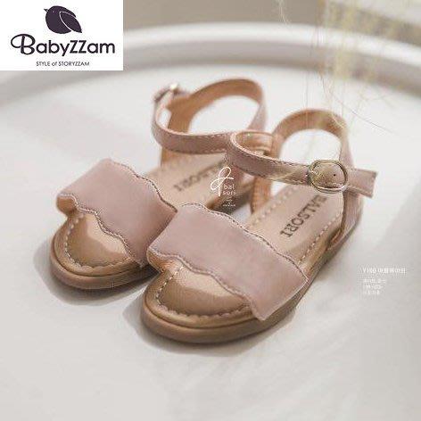 『※妳好,可愛※』韓國童鞋 Babyzzam 正韓 簡約花邊勃肯涼鞋 魔鬼氈涼鞋 女童涼鞋 涼鞋 韓國涼鞋