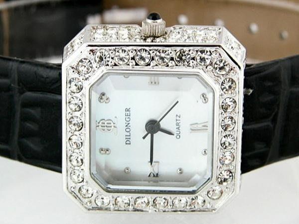 六四三鐘錶精品店@DILONGER?朗牌手錶(真品)施華洛世奇水晶鑽外框~~.甜蜜˙˙