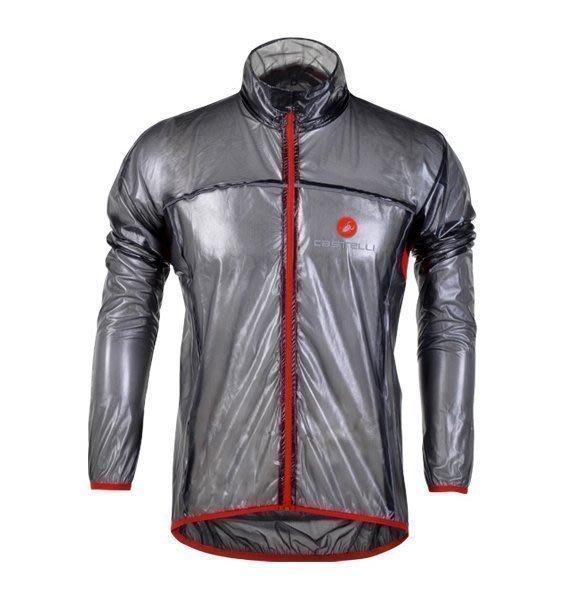 【購物百分百】新款castelli蠍子戶外運動透明風衣 自行車騎行風衣 防風防雨風衣雨披 黑色 只售上衣