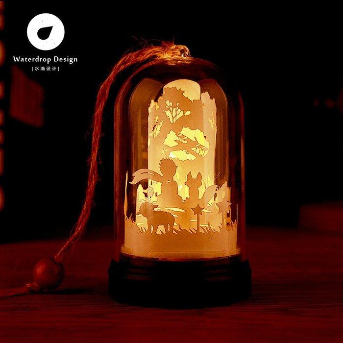 解憂zakka~ 掌上光影紙雕燈小王子剪紙3diy手工材料包創意禮物抖音同款小夜燈#禮物#紙雕燈