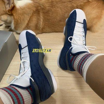 NIKE Air Jordan AJ13 海軍藍 深藍 白 皮革 貓眼 3m 反光 運動 男鞋 414571-404