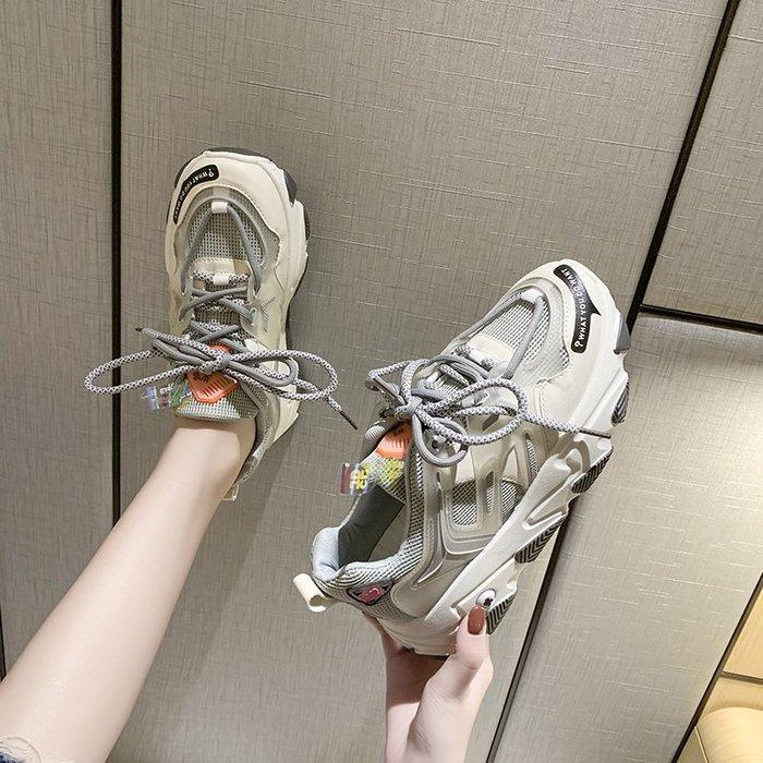 (四季潮)網紅老爹鞋女新款女鞋厚底超火百搭增高休閑運動鞋ins潮-瞄瞄