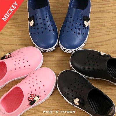 男女童 Disney 迪士尼米奇米妮 護趾雨天防水必備 柔軟EVA一體成型 防水鞋 洞洞鞋 雨鞋 MIT製造 Ovan