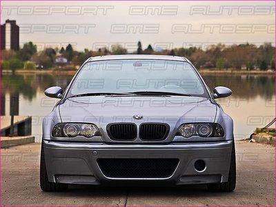 《OME - 傲美國際》BMW E46 M3 兩門 敞篷 318CI 320CI 323CI 325CI 328CI 330CI 霧黑水箱罩 黑鼻頭