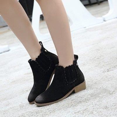 短靴 低跟靴子-歐美擦色時尚加絨女馬丁靴2色73is36[獨家進口][巴黎精品]