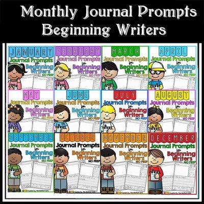 Monthly Journal Prompts for Beginning Writers幼兒早教英語月份學習趣味作業紙 好再來O