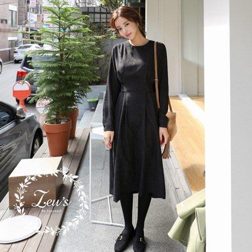【ZEU'S】韓國新款氣質連身綁帶洋裝『 11217707 』【現+預】KB