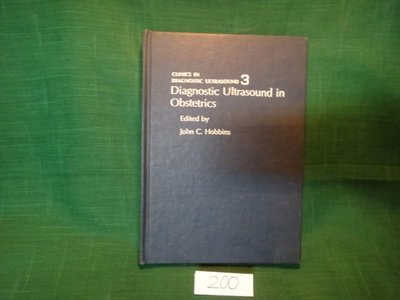 【愛悅二手書坊 09-34】Diagnostic Ultrasound in Obstetrics Edited by John C Hobbins