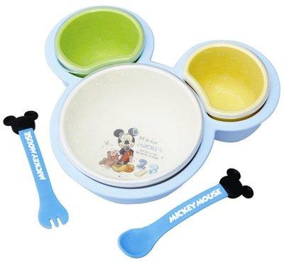 ♡fens house♡  迪士尼 米奇 mickey 離乳餐具組 餐盤 湯匙 叉子 飯碗 盤子 6件組~ 製