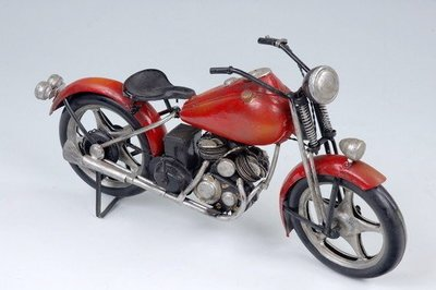 [尚霖模型館] 模型古董車 { M635-4 }古董 哈雷 重型機車 Harley Davidson 1937