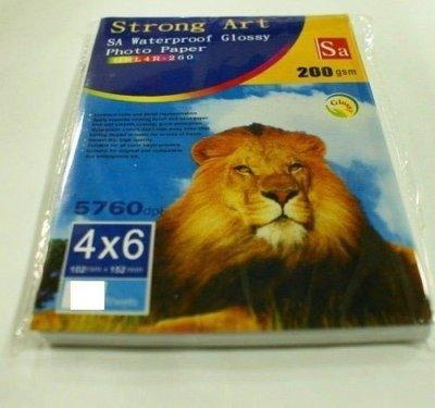 (含稅價)獅王 4*6  5760DPI. 相紙 相片紙 200gsm (20張入) 適用噴墨印表機 新北市