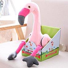 【便利公仔】含運 粉嘟嘟少女心粉紅色火烈鳥鴕鳥公仔會扭脖子唱歌的火烈鳥毛絨玩具