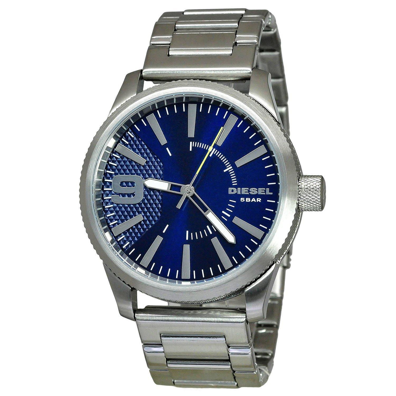 《Vovostore》Diesel DZ1763 藍底不鏽鋼鍊錶**附保證書、收據**($2950含郵)