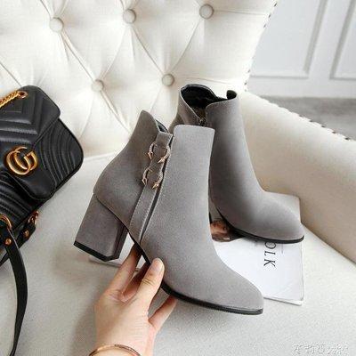 YEAHSHOP 小短靴子女馬丁靴女 短筒網紅靴秋款女矮靴冬鞋女25947Y185
