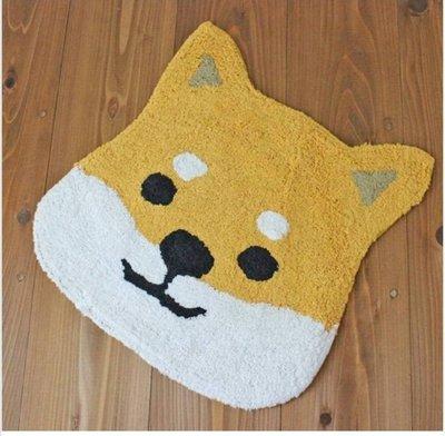 日本正版,柴犬,純棉地毯,地墊,柴田君,黑柳君2款