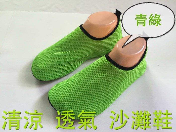 ☆鞋墊哥☆超透氣 網布鞋 赤足皮膚鞋 海邊玩耍就是要騷包!(青綠款)