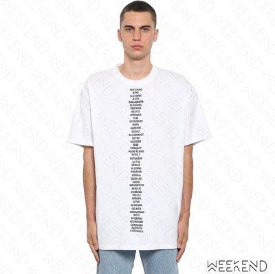 【WEEKEND】 VETEMENTS Logo 文字 短袖 上衣 T恤 白色 19春夏