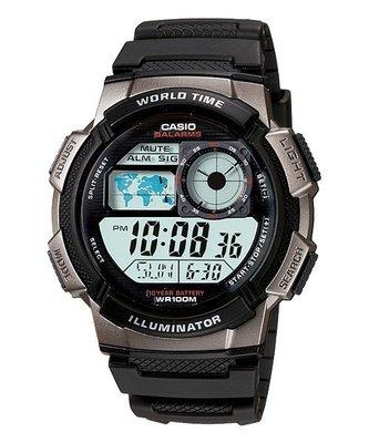 CASIO卡西歐10年電力電子錶以飛機儀表板為發想概念(AE-1000W-1B) (AE-2100W)AE-1200銀框 基隆市