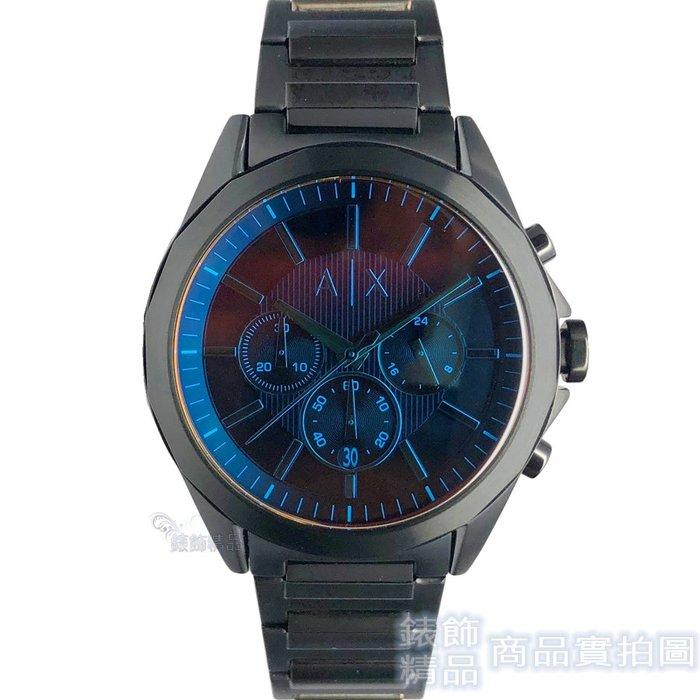 AX 手錶 ARMANI EXCHANGE AX2615 多彩虹色鏡面 計時 IP黑色鋼帶男錶【錶飾精品】