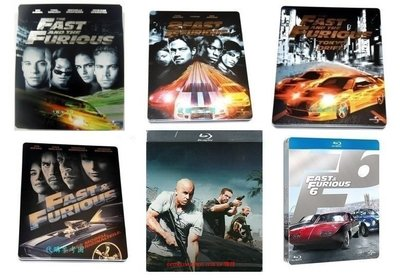 【BD藍光】玩命關頭1~6集:六個獨立限定鐵盒版Fast And The Furious(中文字幕)