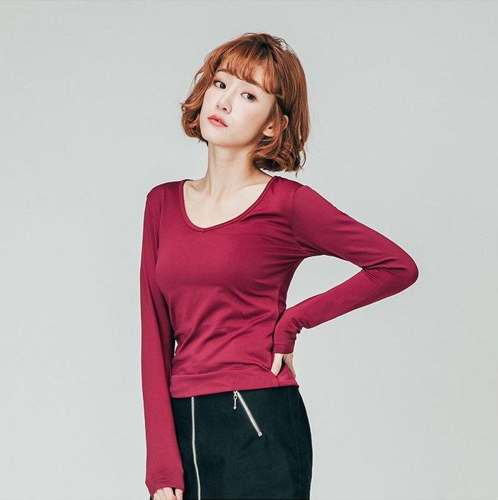 【極致舒適保暖衣】超舒適女V領內搭共八色,輕薄材質富彈性,內裏刷毛,勝發熱衣、衛生衣