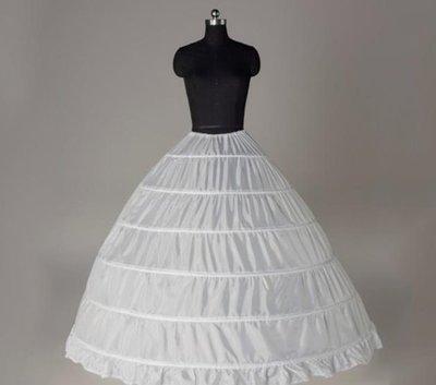 凡妮莎婚紗裙撐-6鋼圈蓬蓬大撐裙-澎裙.禮服撐裙