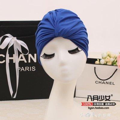 韓國泳帽女長髪成人女士加大不勒頭時尚可愛褶皺溫泉大號游泳帽布    全館免運
