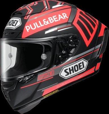 ※[元素重車裝備] ※SHOEI X-Fourteen MARQUEZ BLACK CONCEPT 93 選手全罩安全帽