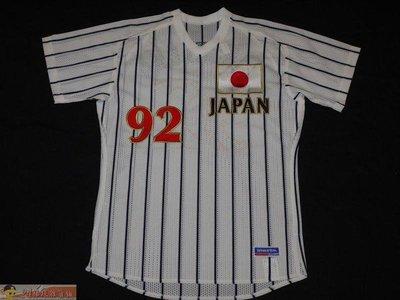 貳拾肆棒球--珍藏品!1992巴塞隆納奧運日本代表隊實戰球衣複刻版Mizuno日製